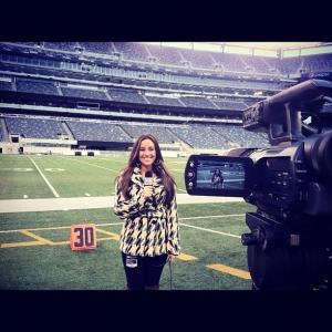Alexa Carroll Broadcasting MetLife stadium