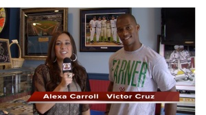 Alexa Carroll interviews Victor Cruz1