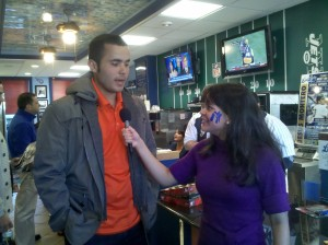 Anamarie Bolanos  with former Yankee catcher Jesus Montero