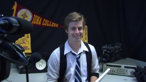 Brian Sears in broadcast booth