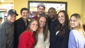 Giants RB Ahmad Bradshaw with Mass Comm Group