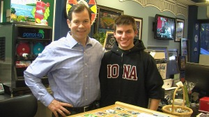 ICTV Steve with Rangers legend Mike Richter