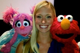 Amanda Weatherwax interned at Sesame Street in 2011