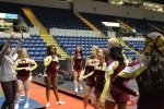 Iona cheerleaders getting ready