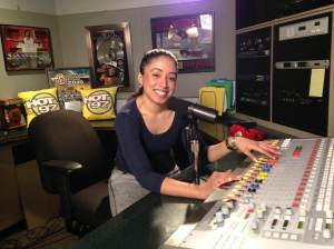 Mass Comm Senior Andrea Rodgers at Hot 97