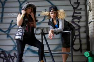 Senior Chelsea Cabarcas (right) photo shoot for Hot 97